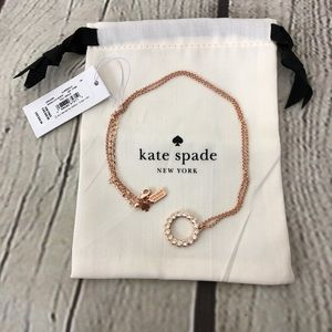 Kate Spade Full Circle Necklace NWT Cubic Zirconia